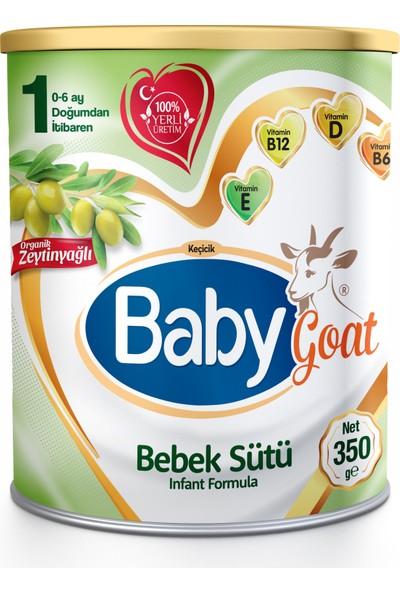 Baby Goat 1 Keçi Sütü Bazlı Organik Zeytinyağlı Bebek Sütü 350 gr