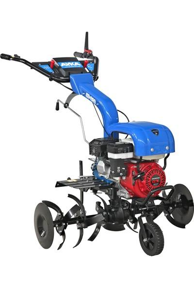 Ayka Motorlu Çapa Makinesi Honda Gx 200 6,5 Hp Benzinli Ipli Motor 3+1 Vites