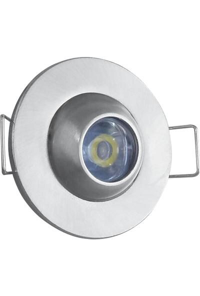 Fujika LED Spot Armatur Manda Gozu 1 W Saten Kasa Amber 2'li