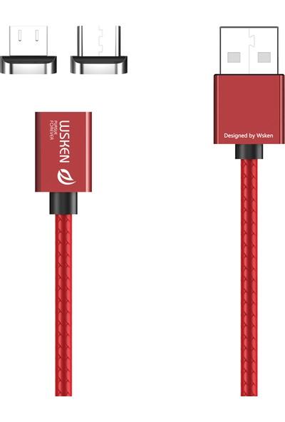 GOB2C Wsken X1 Manyetik Mikro Usb + Tip C Kablo