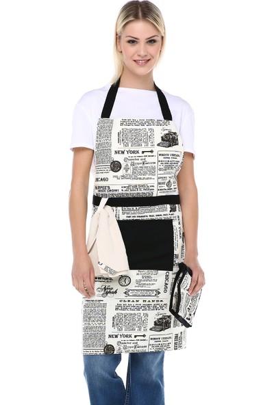 Db Handmade Gazete-2 Mutfak Önlük Takımı