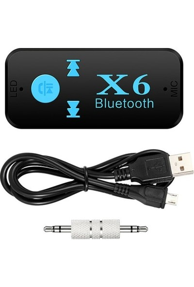 GOMAX X6 Hafıza Kart Girişli Bluetooth Aux Araç Kiti