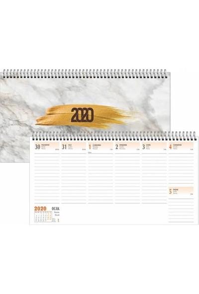 Keskin Color 2020 16 x 33 Haftalık Spiralli Masa Takvimi Aj-66 Masa Ajandası