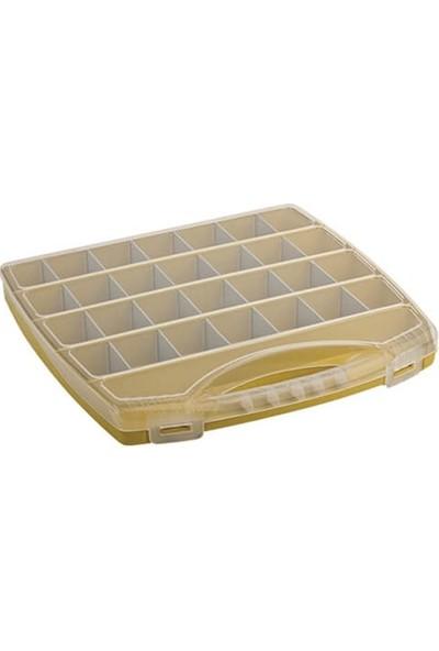Hipaş Plastik - 28 Bölmeli Kapaklı Organizer Kutu - 728