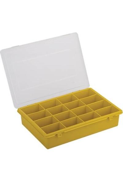 Hipaş Plastik - 16 Bölmeli Kapaklı Organizer Kutu - 616