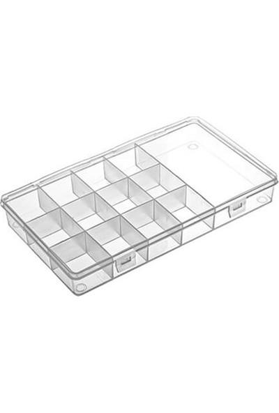 Hipaş Plastik - 13 Bölmeli Kapaklı Organizer Kutu - 613