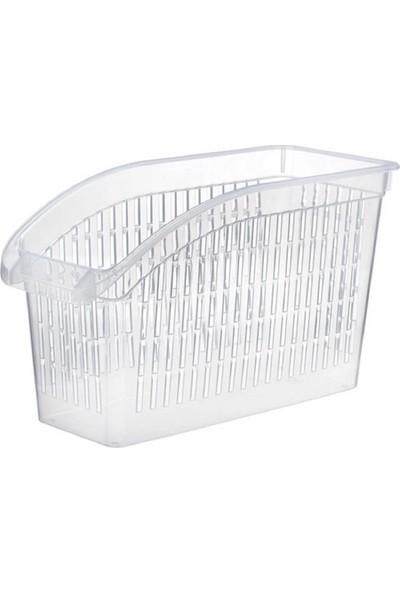 Şeffaf Mutfak Düzenleyici - Buzdolabı Raf Organizer Sepet 2 Li