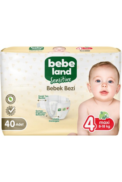 Bebeland Sensitive Bebek Bezi 4 Numara 40 Adet