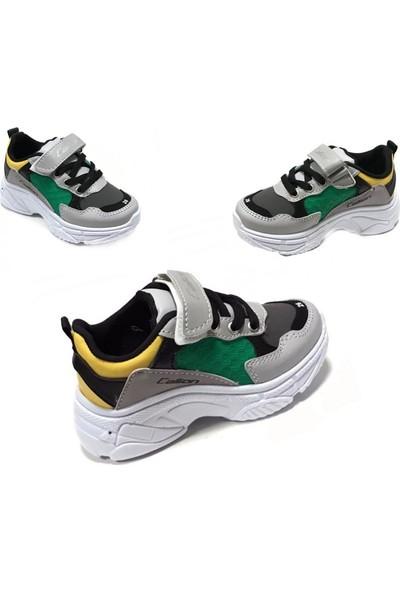 Callion CS1141 Gri Yeşil Erkek Çocuk Spor Ayakkabı