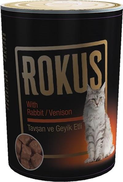 Rokus Tavşan & Geyik Etli 410 g Kedi Konserve Maması 24'lü Ekonomik Koli