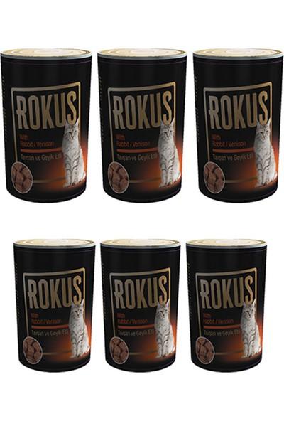 Rokus Tavşan & Geyik Etli 410 g Kedi Konserve Maması 6'lı Ekonomik Paket
