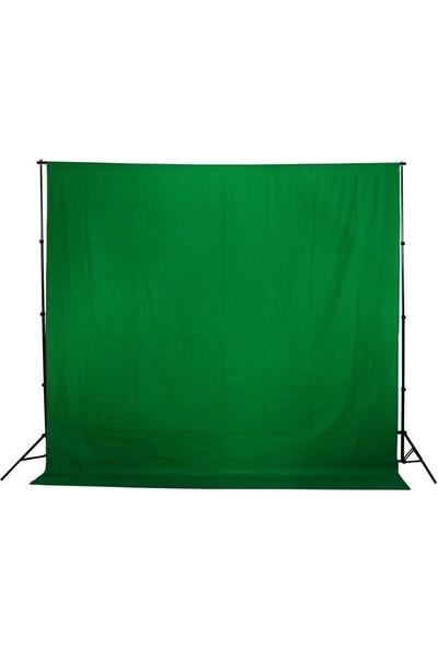 Jinbei Greenbox Chromakey Green Screen Yeşil Fon Perde 2 x 3 m ve 1.90 x 3 m Fon Standı Kit