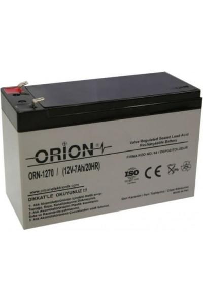 Orion 12V 7.0AH Kuru Bakımsız Akü
