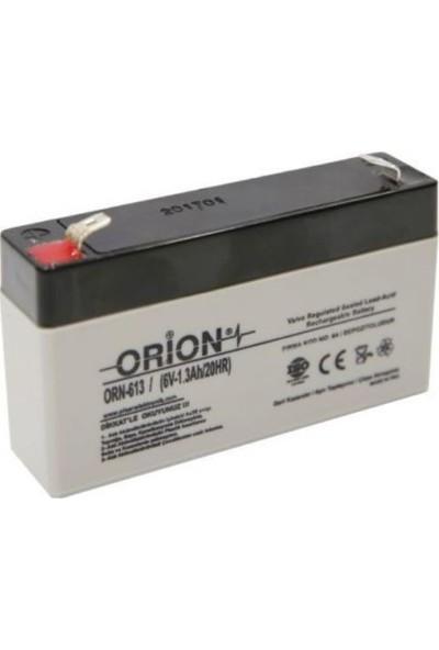 Orion 6V 1.3 Ah Kuru Bakımsız Akü