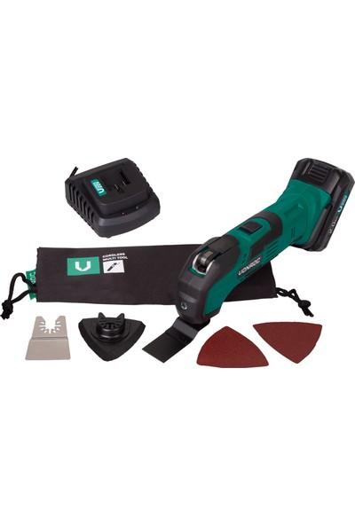 Vonroc Vpower 20V Akülü Multi-Tool Salınımlı Komple Set - 2.0Ah Pil