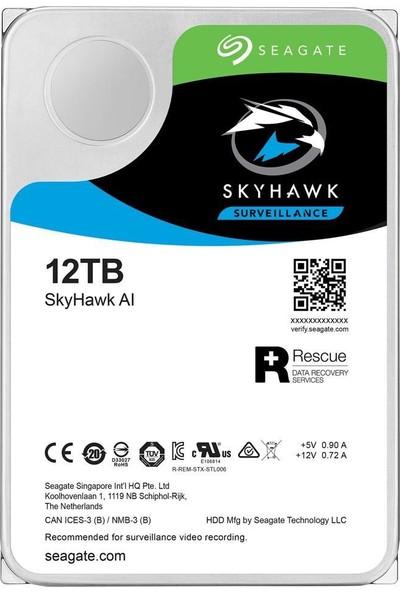 "Seagate SkyHawk 3.5"" 12TB 7200RPM Sata 256MB Disk ST12000VE0008"