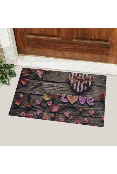 Myfloor Love Yazılı Kauçuk Kapı Önü Paspası