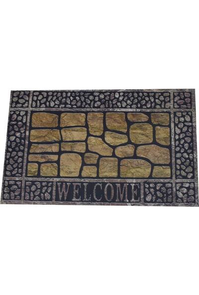 Myfloor Taşlı Welcome Kauçuk Kapı Önü Paspası