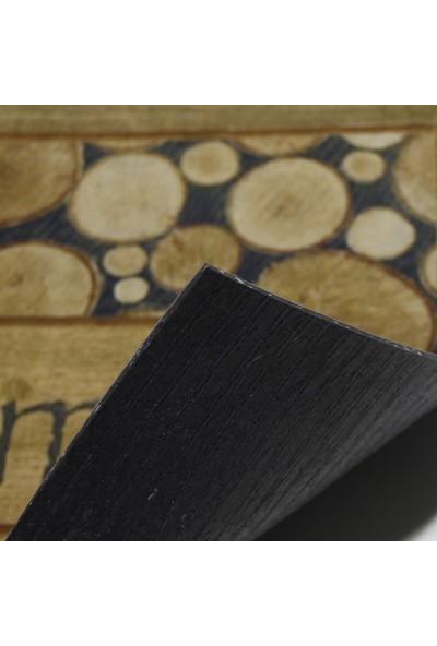 Myfloor Welcome Yazılı Ağaç Desenli Kauçuk Kapı Önü Paspası