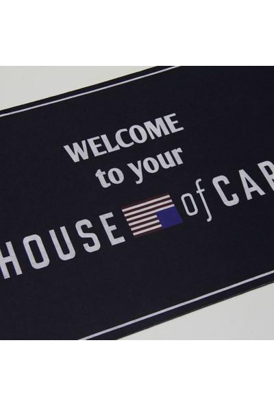 Myfloor House Of Cards Baskılı Kauçuk Kapı Önü Paspası
