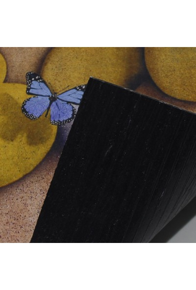 Myfloor Kelebek Baskılı Kauçuk Kapı Önü Paspası
