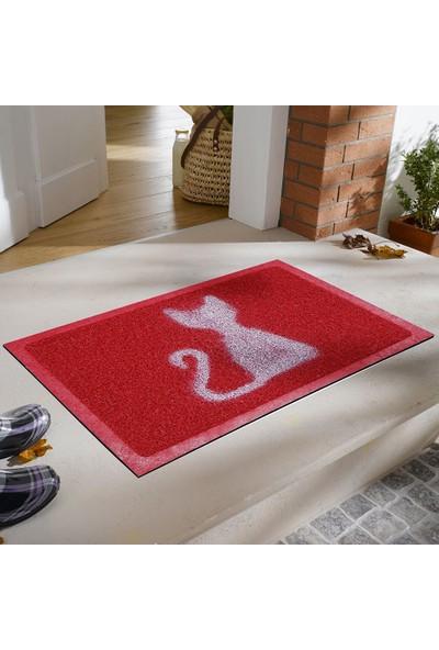 Myfloor Kedi Desenli Kıvırcık Kapı Önü Paspası