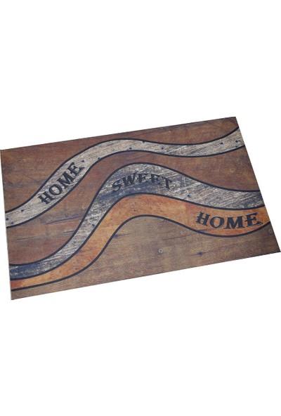 Myfloor Home Sweet Home Baskılı Kauçuk Kapı Önü Paspası