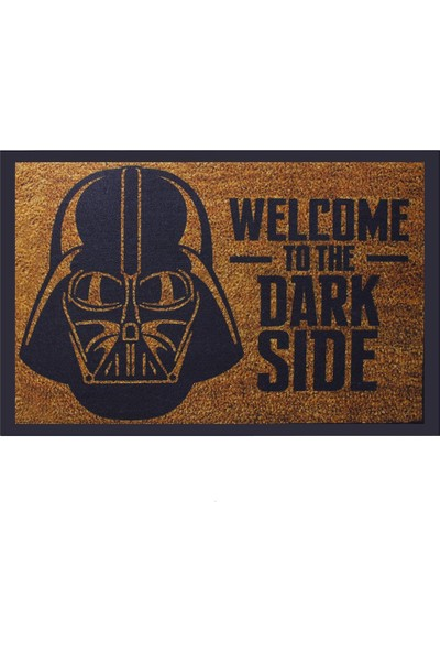 Myfloor Welcome To The Dark Side Baskı Kauçuk Kapı Önü Paspası