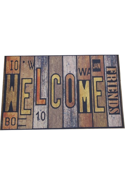 Myfloor Welcome Yazı Baskılı Kauçuk Kapı Önü Paspası