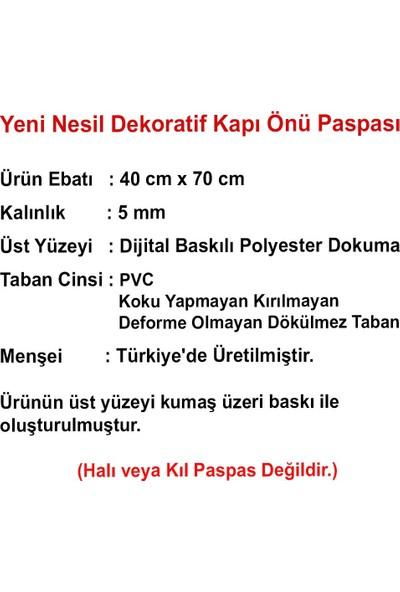 Myfloor Welcome Yazılı Ahşap Desenli Kauçuk Kapı Önü Paspası