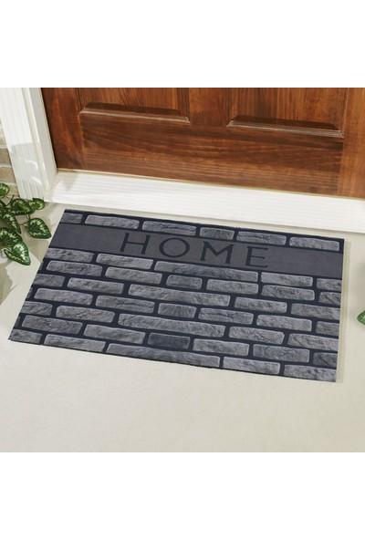 Myfloor Home Yazılı Desenli Kauçuk Kapı Önü Paspası