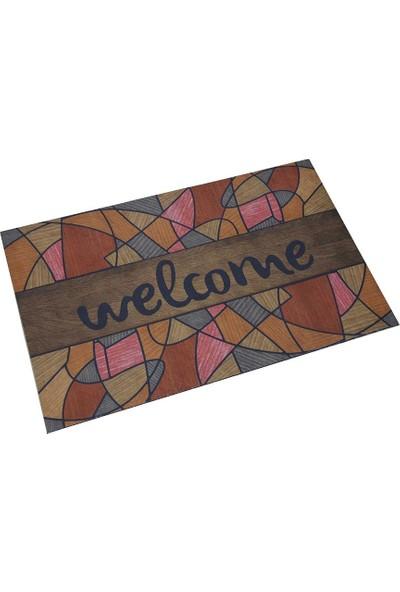 Myfloor Welcome Yazılı Mozaik Desenli Kauçuk Kapı Önü Paspası