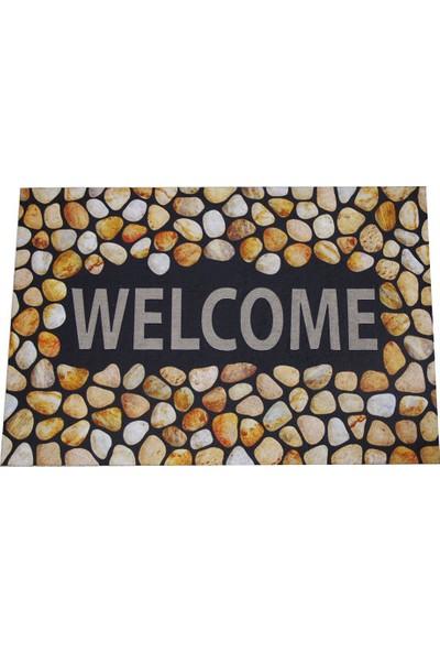 Myfloor Welcome Yazılı Desenli Kauçuk Kapı Önü Paspası