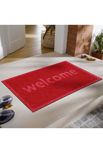 Myfloor Welcome Baskılı Kıvırcık Kapı Önü Paspası