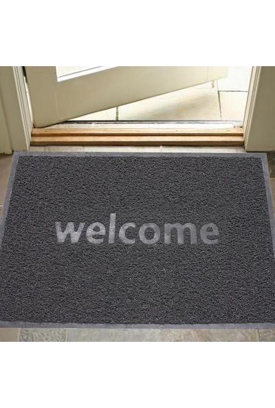 Myfloor Büyük Boy Welcome Baskılı Kıvırcık Kapı Önü Paspası