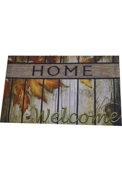 Myfloor Welcome Home Yazılı Kauçuk Kapı Önü Paspası