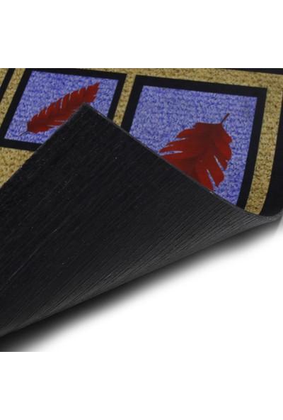 Myfloor Hoşgeldiniz Yazılı Desenli Kauçuk Kapı Önü Paspası