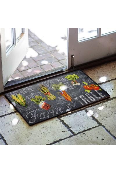 Myfloor Sebze Desenli Kauçuk Kapı Önü ve Mutfak Paspası