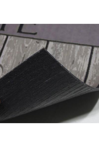 Myfloor Home Yazılı Ahşap Görünümlü Kauçuk Kapı Önü Paspası