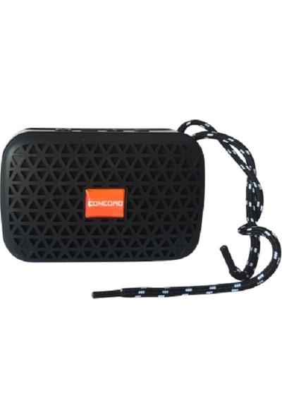 Concord C-798 Mini Renkli USB/TF/FM Bluetooth Hoparlör Siyah