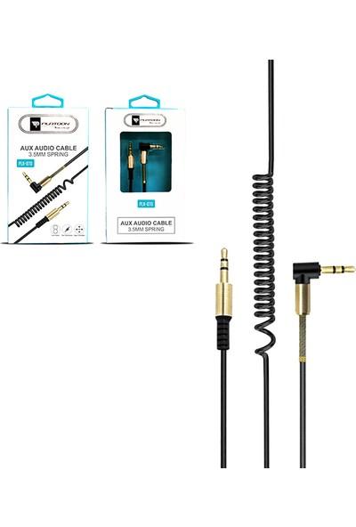 Platoon PLX-070 Spralli Aux Audio L Kablo 3.5 mm Siyah