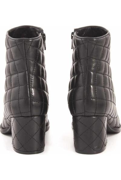 Rouge Deri Kadın Topuklu Ayakkabı 3258-24