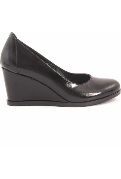 Tanca Deri Kadın Dolgu Topuklu Ayakkabı SHF02