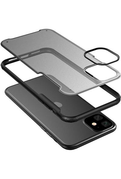 Happyshop Apple İphone 11 Kılıf Renkli Silikon Kenarlı Sert Volks Kapak+Cam Ekran Koruyucu