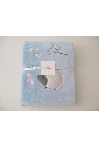 Blue & Pink Christy Nakışlı Bebek Battaniye