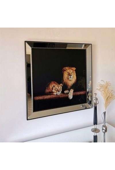 NeoStill Ayna Çerçeveli Temperli Cama Uv Baskı Tablo T101