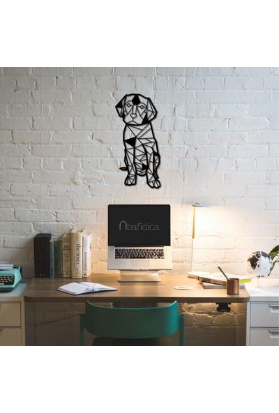 Bafidica Geometric Dog, Labrador Metal Tablo