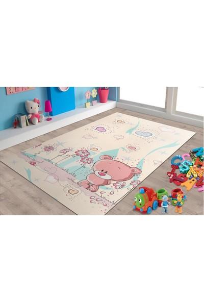 Marateks Ayıcık Desenli Kaymaz Taban Çocuk Odası Halısı 100x150