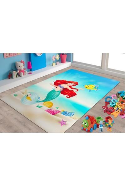 Marateks Deniz kızı Desenli Kaymaz Taban Çocuk Odası Halısı 80x200