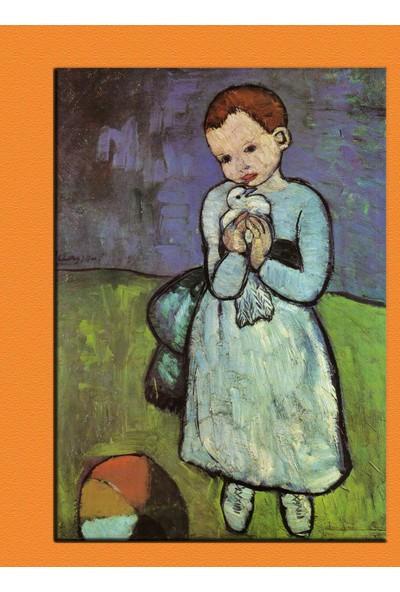 Sibiro Picasso Child Holding a Dove 35 x 50 cm